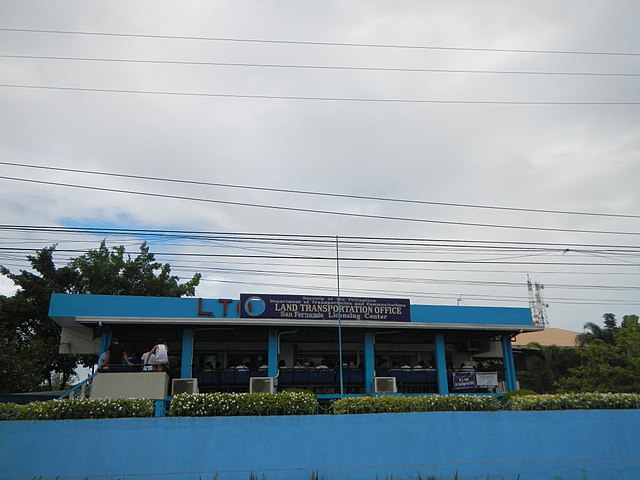 Land Transportation Office, Pampanga Provincial Capitol Office. (Photo By Ramon FVelasquez - Own work, CC BY-SA 3.0)