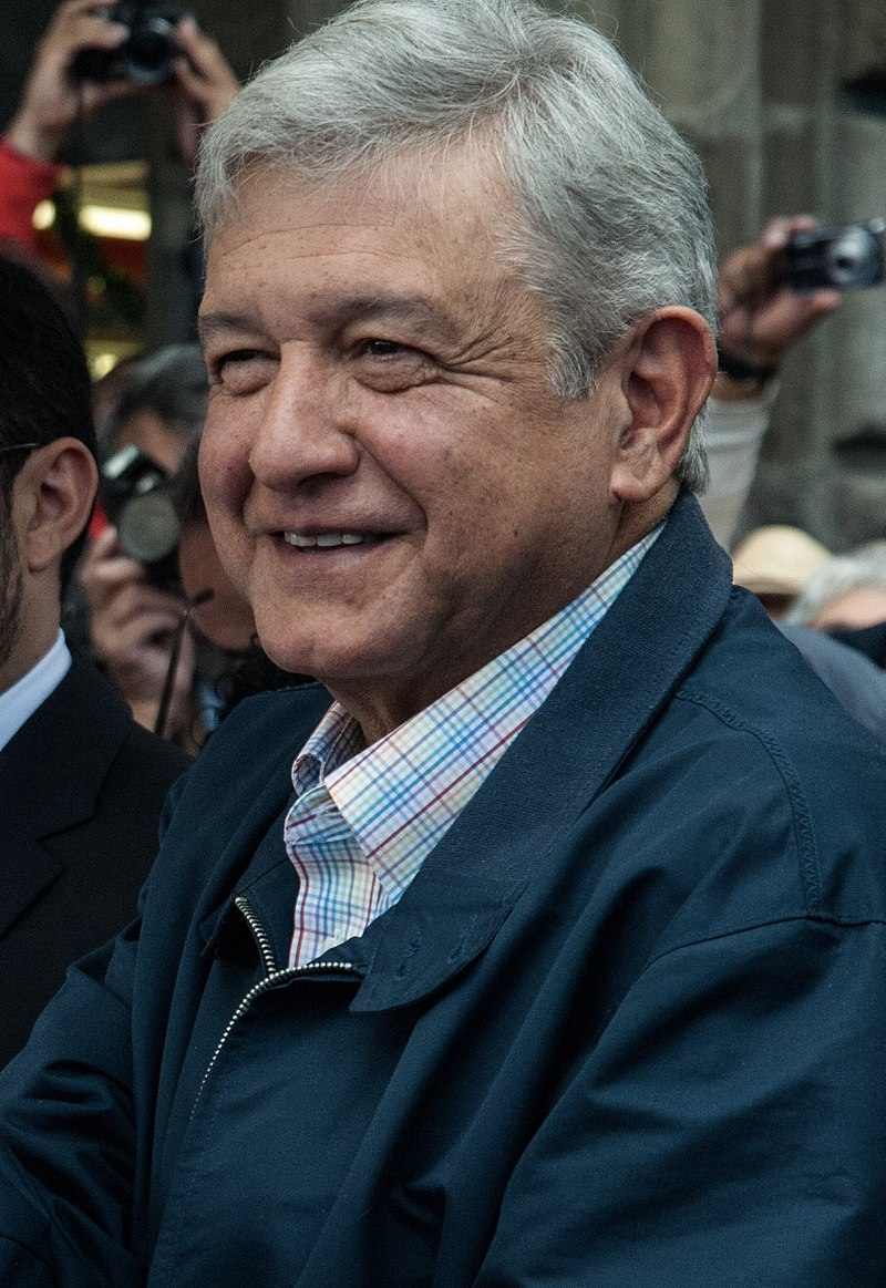 Andres Manuel Lopez Obrador (Photo By Eneas De Troya from Mexico City, México - This file has been extracted from another file: AMLO se afilia a MORENA en el Zócalo (8361522287).jpg, CC BY-SA 2.0)