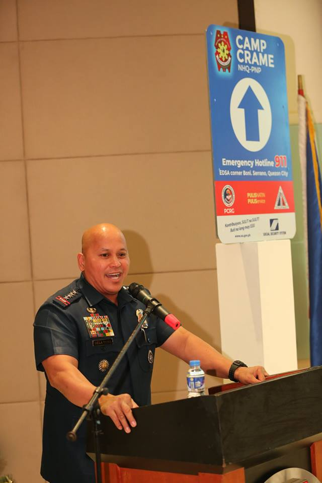 """Philippine National Police (PNP) Director General Ronald """"Bato"""" Dela Rosa on Thursday disclosed the reason behind his extended term as police chief; President Rodrigo Duterte wanted him to focus on security concerns in Mindanao. (Photo: Philippine National Police/Facebook)"""