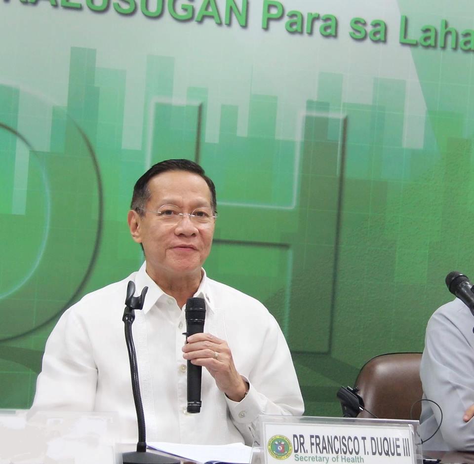 FILE: Department of Health (DOH) Secretary Francisco Duque III (Photo: Department of Health (Philippines)/Facebook)