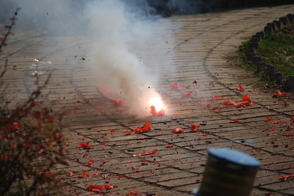 Some 30 of the 42 people so far injured by firecrackers were handling illegal fireworks. (Pixabay photo)