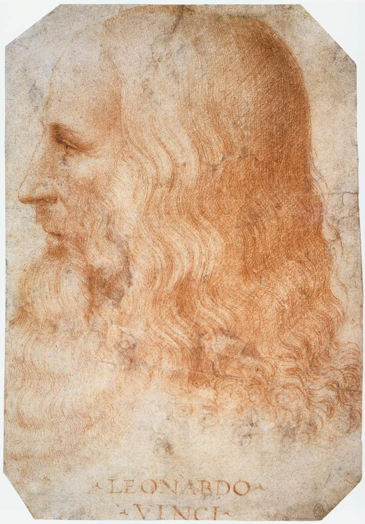 Francesco Melzi - Portrait of Leonardo - WGA14795 (Photo By Francesco Melzi - Web Gallery of Art: Image Info about artwork, Public Domain)