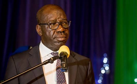 Edo state governor Godwin Obaseki said Thursday that he wants to help reintegrate those coming home who are destitute. (Photo: Governor Godwin Obaseki/Facebook)