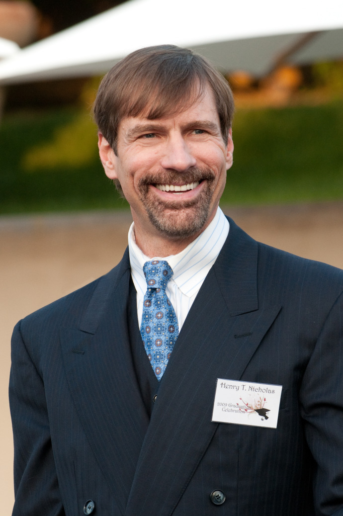 Henry Nicholas speaking at the Nicholas Academic Center Graduation (Photo By Henry T. Nicholas Foundation - Own work, CC BY-SA 3.0)