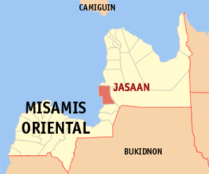 Map of Misamis Oriental with Jasaan (Photo by Mike Gonzalez (TheCoffee) - English Wikipedia, CC BY-SA 3.0)