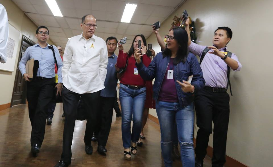 Former President Benigno Aquino III on Thursday reiterated nobody knew that the Dengvaxia dengue vaccine posed risks when it was sold by pharmaceutical company Sanofi Pasteur to the Philippine government in 2015. (Photo: Senate of the Philippines/Facebook)