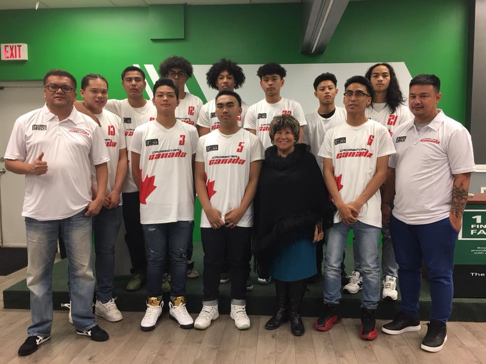 Team Crossover Canada with WFG's Agnes Pasaporte Miranda (Supplied)