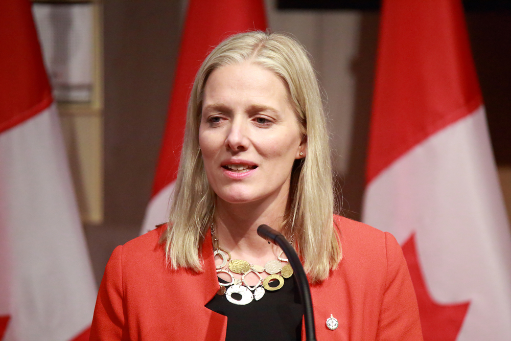 Environment Minister Catherine McKenna says a national price on carbon won't be imposed on any province for at least another year. (Shutterstock)