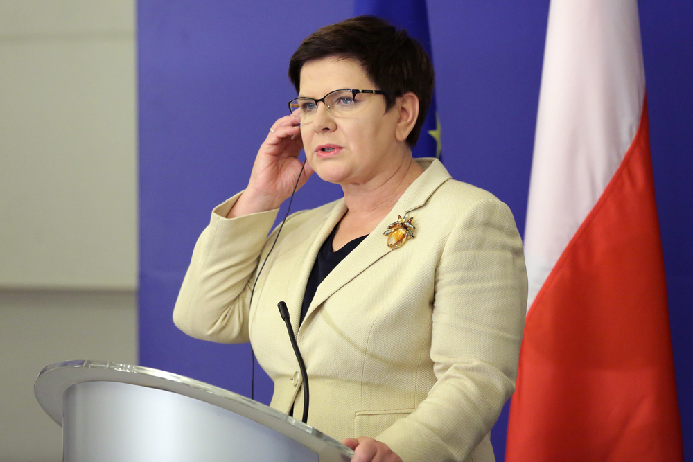 Poland's Prime Minister Beata Szydlo (pictured) and her conservative government easily survived a confidence vote in parliament on Thursday that was called by the opposition. (Shutterstock)