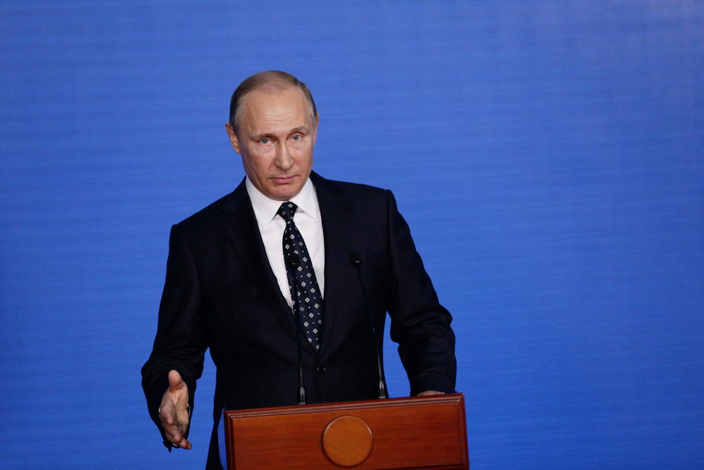 FILE: Russian President Vladimir Putin says Wednesday's explosion at a supermarket in the country's second-largest city was a terrorist attack. (Shutterstock)