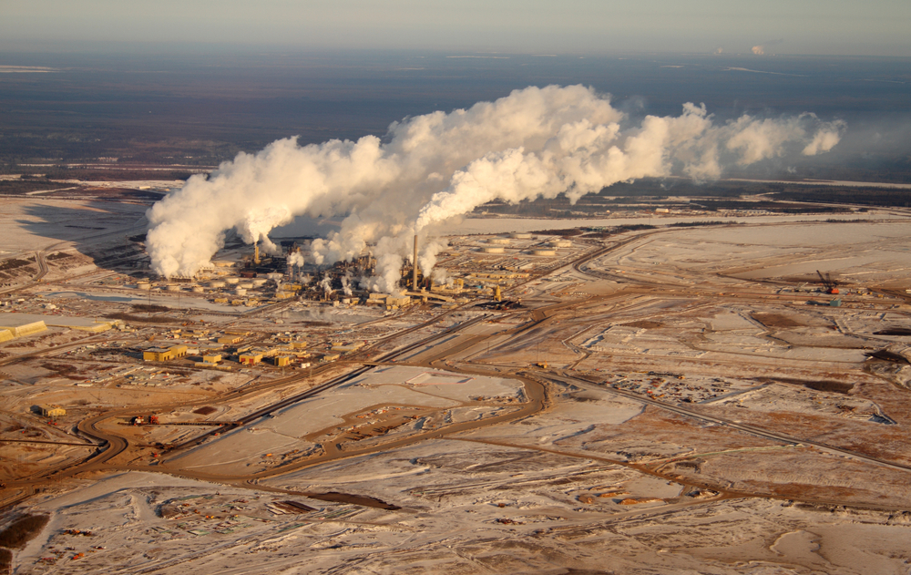 Alberta has begun monitoring oilsands emissions from the sky. (Seen in this photo is an oilsands development in Northern Alberta)