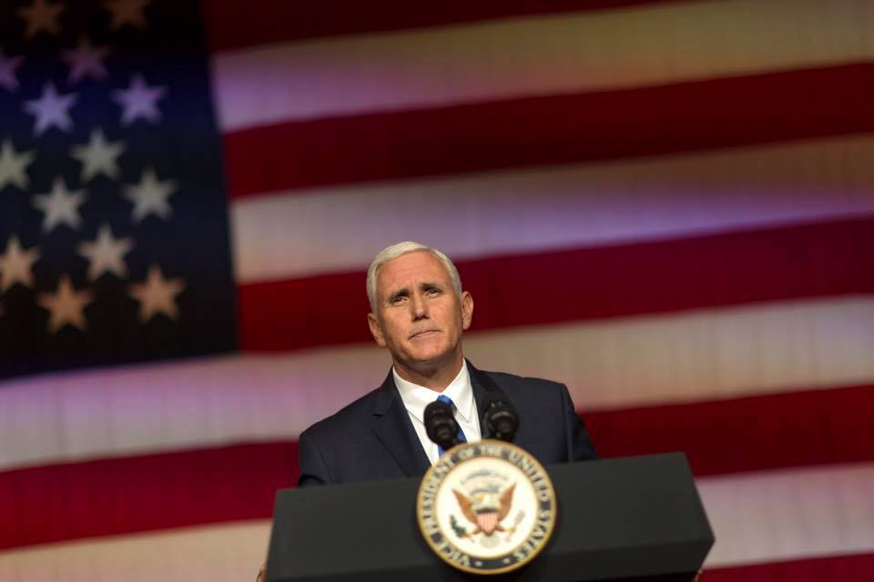 Vice-President Mike Pence's six-day swing through Asia, anchored by a stop at the Winter Olympics in South Korea, is set to focus less on sports than the host country's bellicose neighbour to the North.(Photo: Vice President Mike Pence/Facebook)