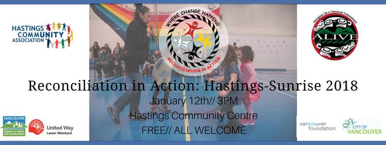 Third Annual Reconciliation in Action: Hastings-Sunrise (Photo: Aboriginal Life in Vancouver Enhancement‎ / Facebook)