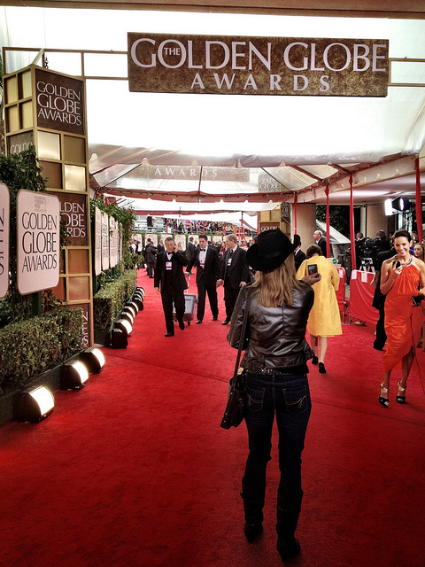 The highly anticipated wear-black protest at the Golden Globes took off Sunday as soon as the red carpet opened. (Photo by jdeeringdavis/Flickr, CC BY 2.0)