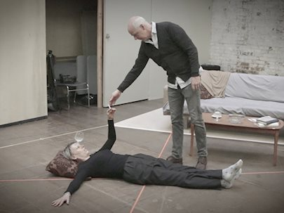 """Behind the scenes of """"A Delicate Balance"""" (Photo by Soulpepper Theatre)"""