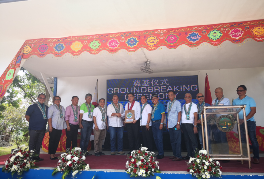 A GRANT FROM CHINA. The Chinese Embassy and the Philippines' Department of Health break ground for a Dangerous Drug Abuse Treatment and Rehabilitation Center in Sarangani province on Friday (January 12, 2018). (Photo courtesy of Chinese Embassy)