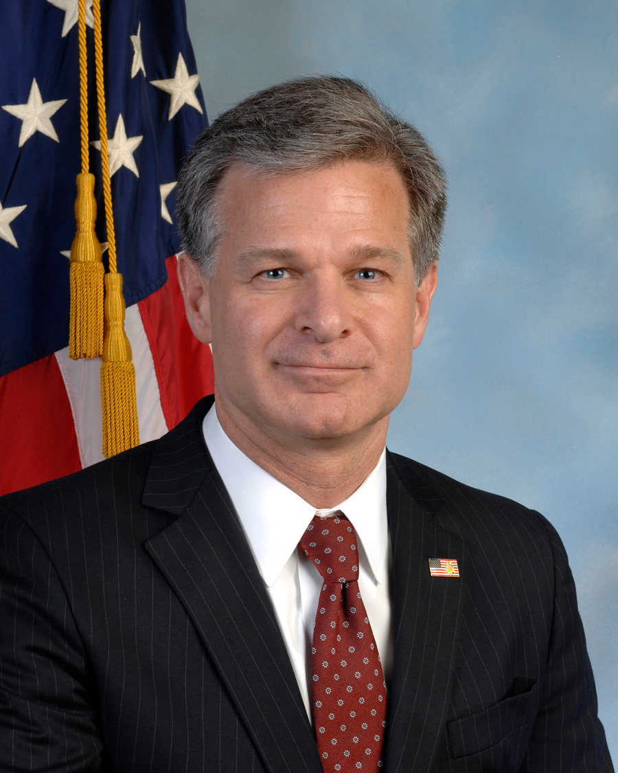 Christopher A. Wray, FBI Director, official photo (Photo By Federal Bureau of Investigation)