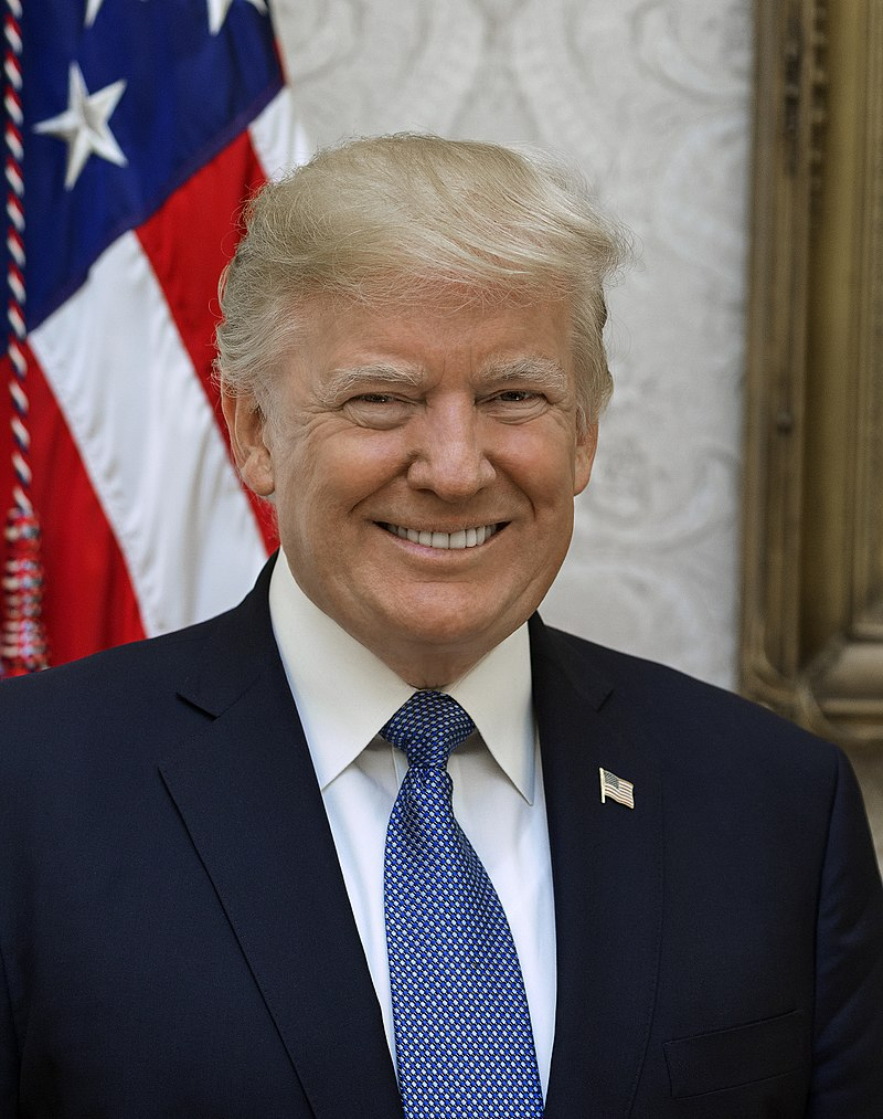 FILE: Donald Trump (Photo by Shealah Craighead - https://www.whitehouse.gov/the-press-office/2017/10/31/white-house-releases-official-portraits-president-donald-j-trump-and, Public Domain)