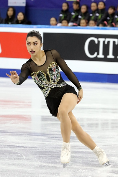 Gabrielle Daleman at the 2017 Four Continents Figure Skating Championships. (Photo By David W. Carmichael - http://davecskatingphoto.com/photos_2017_4cc_ladies.html, CC BY-SA 3.0)