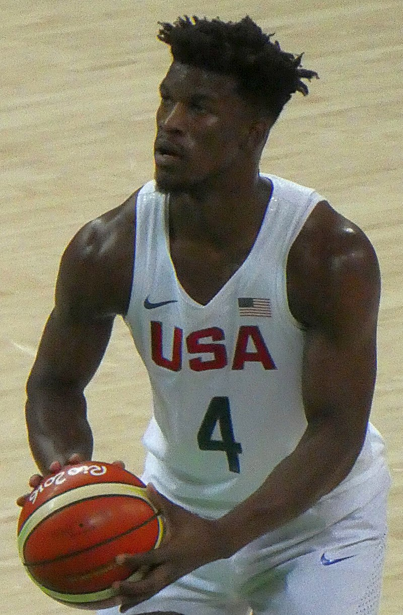 Jimmy Butler (Photo by Marcus Cyron - https://commons.wikimedia.org/wiki/File:Jimmy_Butler_-_Rio_2016.jpg, CC BY-SA 4.0)