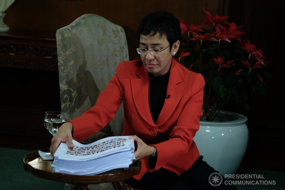 FILE: Maria Ressa, Rappler (Seen in this PCOO photo is Rappler CEO Maria Ressa)