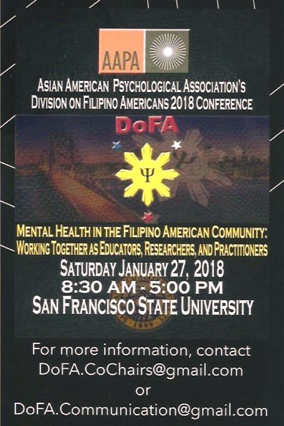 Mental Health in the Filipino American Community: Working Together as Educators, Researchers, and Practitioners (Photo: Filipino American National Historical Society (FANHS)/Facebook)