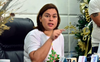 """I feel sad for Trillanes and his tireless attempt to rehash and recycle an issue that has already been proven as gossip,"" Sara Dutert said. (PNA Photo)"