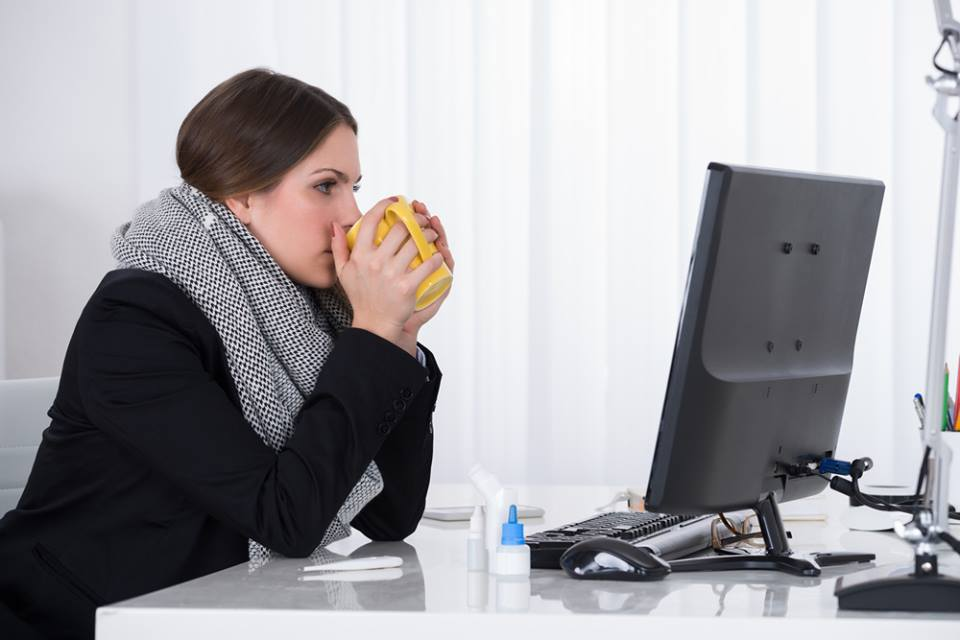As much of the nation muddled through bitter weather in recent weeks, office dwellers found they still had to brave the cold even when indoors. Many relied on winter parkas, gloves, blankets and space heaters just to keep working.  (Shutterstock)