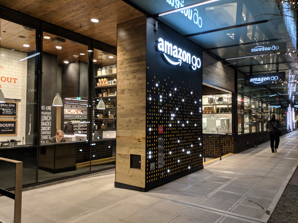 The online retailer opened its Amazon Go concept to the public Monday in Seattle, which lets shoppers take milk, potato chips or ready-to-eat salads off its shelves and just walk out. (Shutterstock)