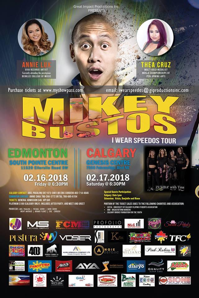 I Wear Speedos Tour Edmonton (Mikey Bustos - I Wear Speedos Tour Edmonton / Facebook page)