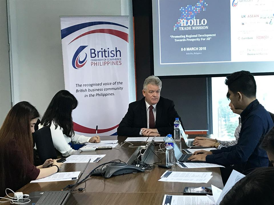 Nelson said BCCP targets to bring in 50 firms based in the United Kingdom as delegates to the business mission in the Visayas. (Photo: British Chamber of Commerce Philippines/Facebook)
