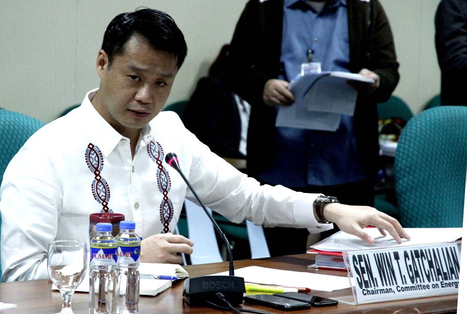 "FILE: ""Once this bill becomes law, I assure you that you will run out of ways to escape liability for your wrongdoings. So my appeal to you is simple: Put a stop [to hazing] once and for all, before it is too late. You won't be able to get away with it the next time around,"" Gatchalian said in a statement. (Photo: Senate of the Philippines/Facebook)"