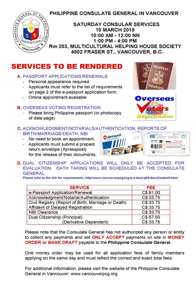 Special Consular Services | Philippine Consulate General in