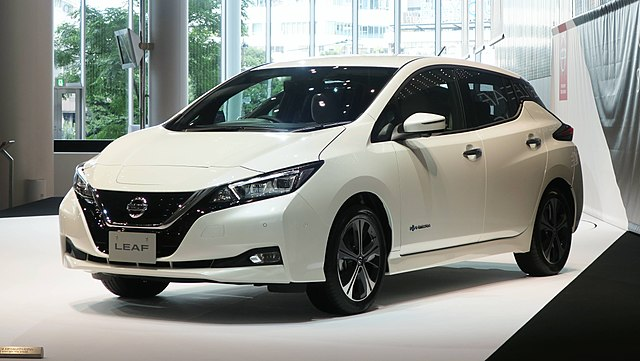 A second-generation Nissan Leaf at the Nissan Global Headquarters Gallery in Yokohama, Japan (Photo By photo: Qurren (talk)Taken with Canon PowerShot G9 X - Own work, CC BY-SA 3.0)