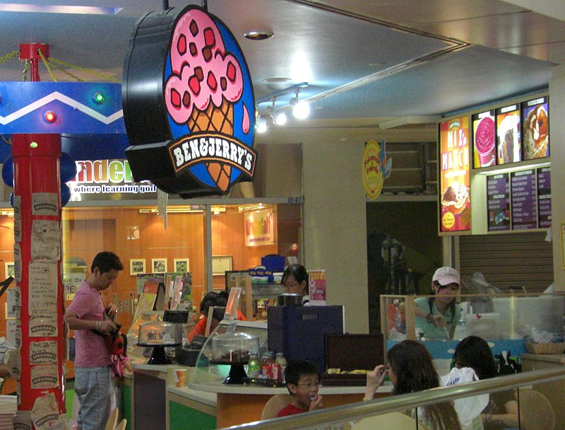 Ben & Jerry's ice-cream branch at the United Square Shopping Mall in Singapore. (Photo By Waycool27 at en.wikipedia. - Own work; originally from en.wikipedia: description page is/was here., Public Domain)