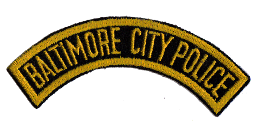 Baltimore City Police Rocker Patch used from 1952 to 1967 (Photo By GoBlue85 - Own work, Public Domain)