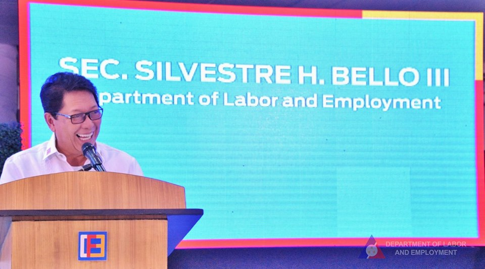 """""""I think the Labor Secretary is finalizing the mechanism by which we can deploy workers to China as an alternative destination. So that's being worked out,"""" Roque said in a Palace briefing. (Photo: Department of Labor and Employment - DOLE/Facebook)"""