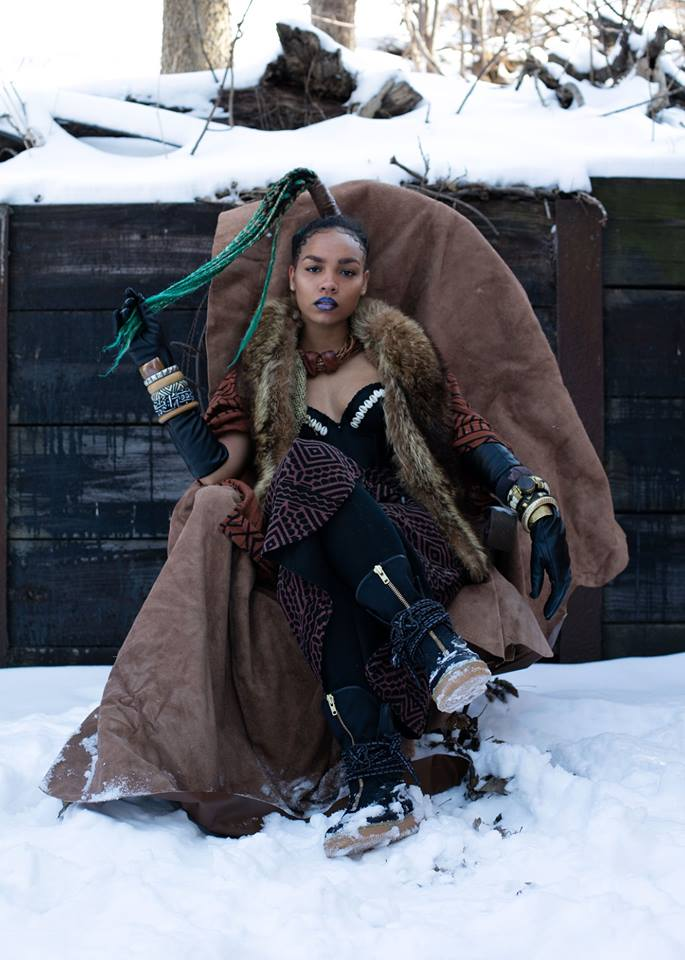 "Marvel Studios sponsored a small Black Panther-inspired presentation, ""Welcome to Wakanda,"" on Monday featuring designs by LaQuan Smith, Chromat, Wale Oyejide of the brand Ikire Jones, Fear of God and others, including the jewelry of Douriean Fletcher in a capsule collection. (Photo: Black Panther/Facebook)"