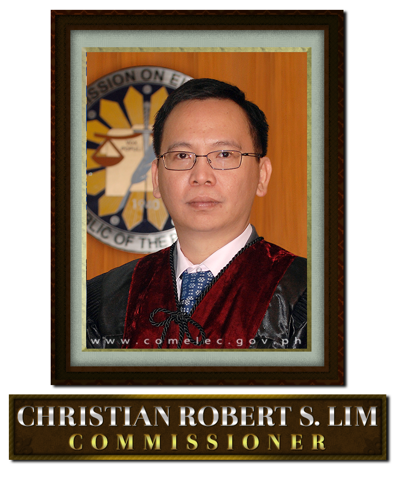 Acting Chairman Christian Robert S. Lim (Photo by COMELEC)