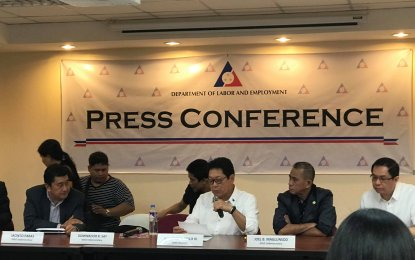 The Department of Labor and Employment (DOLE) on Monday officially ordered a total ban on the deployment of overseas Filipino workers (OFWs) to Kuwait effective immediately. (PNA photo)