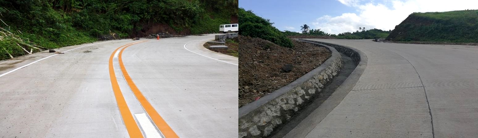 """The Department of Public Works and Highways (DPWH) successfully completed under the """"Build, Build, Build"""" program the two (2) big-ticket projects costing P867.8 million along Catanduanes Circumferential Road."""
