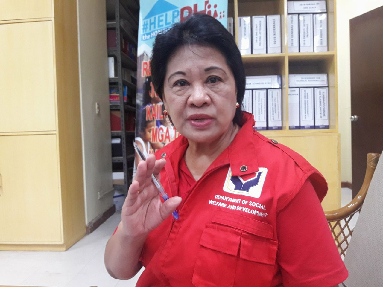 Perlita Panganiban, DSWD OIC Social Welfare Attache Officer, said repatriated mothers/fathers with children from Kuwait are given PHP5,000 immediate financial assistance upon their return to the country. (PNA photo by Leilani S. Junio)