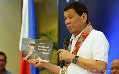 President Rodrigo R. Duterte on Monday, Feb. 12, committed assistance to all local government officials from Visayas and Mindanao regardless of party affiliation. (PNA photo)