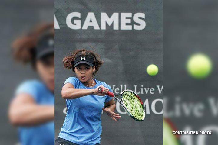 Ana Clarice Patrimonio in action during the 2017 SEA Games women's singles final in Kuala Lumpur, Malaysia. (Contributed/PNAPhoto)