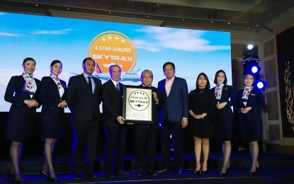 According to Skytrax, PAL was given a 4-star rating based on the carrier's inflight and on-ground services. (PNA PHOTO)