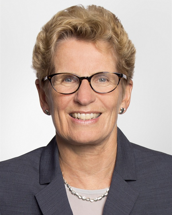 Official photo of Kathleen Wynne, MPP for Don Valley West and Premier of Ontario (Photo By Libby Adder - Own work, CC BY-SA 4.0)