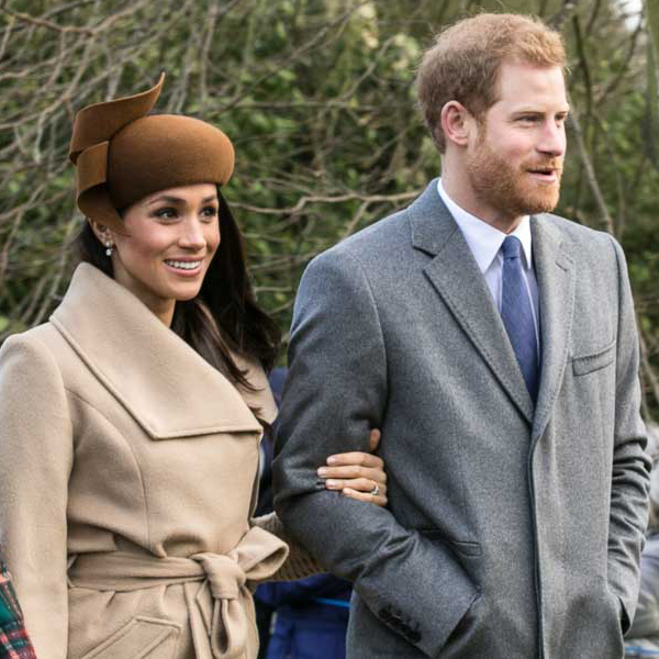 Harry and Meghan attending church on Christmas Day, 2017 (Photo By Mark Jones - This file has been extracted from another file: Prince Harry and Meghan Markle on Christmas Day 2017.jpg, CC BY 2.0)