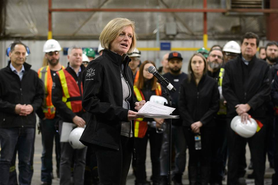 Alberta Premier Rachel Notley says she wants progress within days from Ottawa in resolving a pipeline dispute with British Columbia, or her government will look at further retaliatory measures. (Photo: Rachel Notley/Facebook)