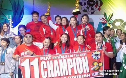 For the sixth consecutive year, the UE fencers topped the men's, women's, boys and girls divisions. (PNA photo)