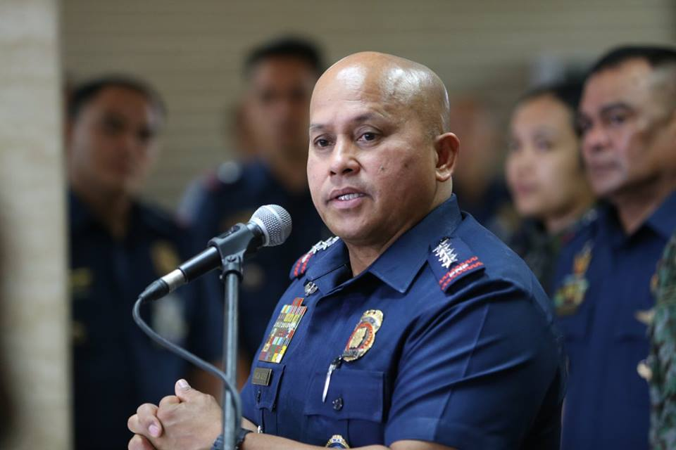 """You don't have the monopoly of the Roman Catholic religion!"" Dela Rosa said during a press briefing. (Photo: Philippine National Police/Facebook)"